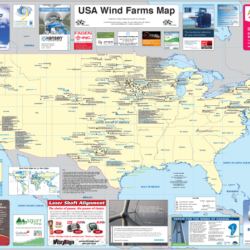 List Of Wind Farms In The United States Wikipedia A Map Of Every