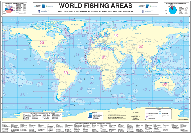 World fishing areas map la tene maps for World of fishing