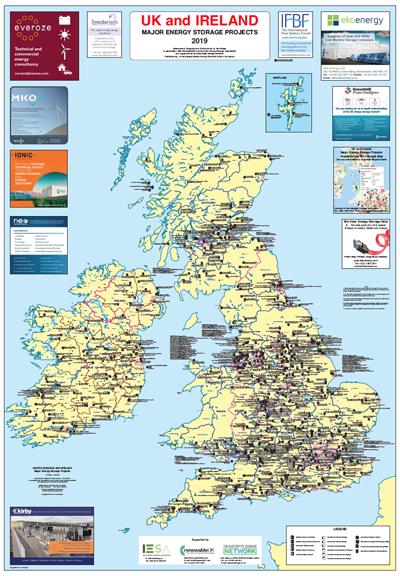 Map Of Uk Ireland.Uk And Ireland Major Energy Storage Projects 2019