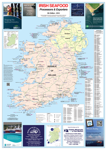 Irish Seafood Processors and Exporters Map, 2018