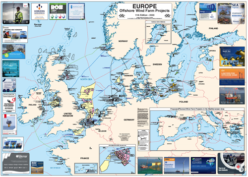 Europe- Offshore Wind Projects Map 2020 edition