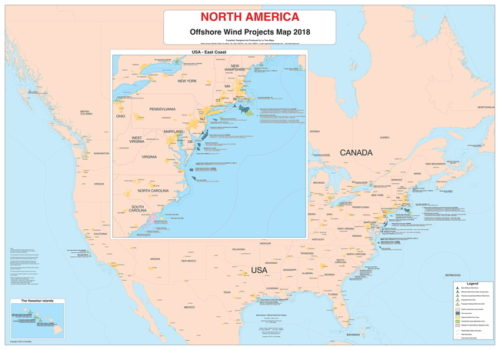 Nth America Offshore Wind Map 2018