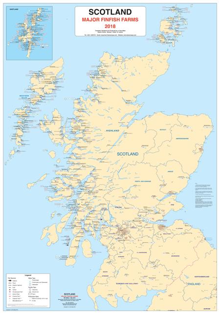 Scotland - Major Finfish Farms - La Tene Maps