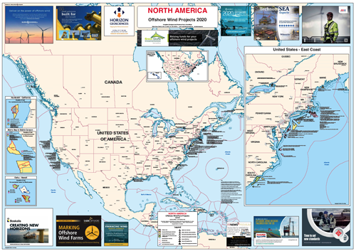 North America – Offshore Wind Projects Map, April 2020